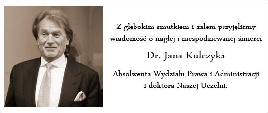 Nekrolog dr Jan Kulczyk