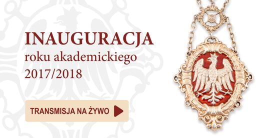 Grafika Inauguracja Roku Akademickiego 2017/18 na UAM. Grafika przekierowuje na transmisję online wydarzenia, która rozpoczyna się 2 października 2017 roku o godzinie 10:00.